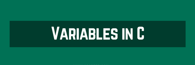 Variables in C