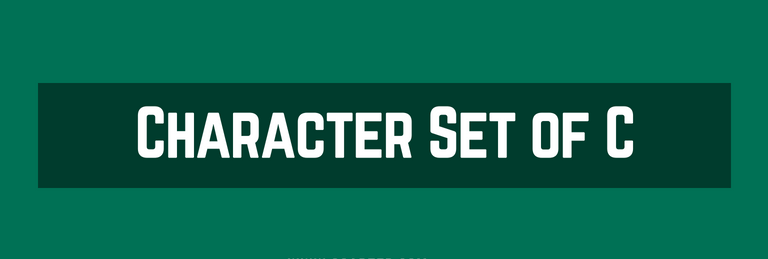 Character set of C